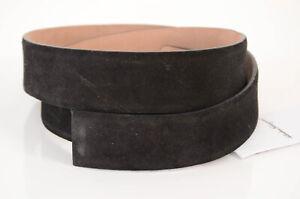 Salvatore Ferragamo black 34 suede leather classic waist band belt NEW $375