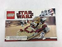 Lego Star Wars 8092 Instructions Booklet / Manual Only 2010