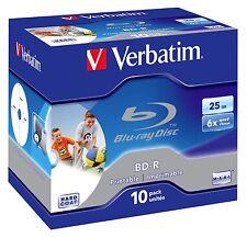 Verbatim BluRay Inkjet Disc BD R 25GB 10Pk Jewel Case speed P/N 43713