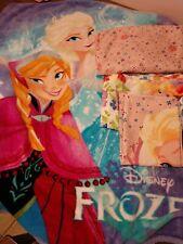 Disney Frozen Anna & Elsa bedding Twin Flat & fitted sheet,1 pillowcase, blanket