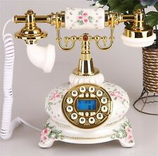 European Style Antique Corded Telephone Retro Vintage home office Desk Phone
