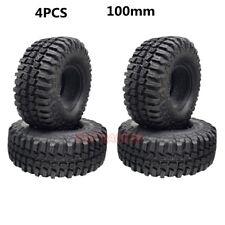 """4Pcs RC Rock Crawler 1.9"""" Tires 100mm SOFT Tyre Fit Axial SCX10 RC4WD CC01 90046"""