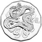 2012 Australia 50c Lunar Year of the Dragon Tetra-decagon Unc Coin - red folder