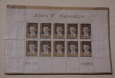 Dominican Republic Sheet Of 10 John F. Kennedy B/S Usa 1965