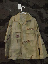 US Airforce DCU 3 Color Desert Camo BDU Jacket, Size Medium Regular
