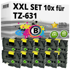 10x Farbband kompatibel Brother P-Touch PT E100 1010 1230 H300 D200 H105 TZ-631