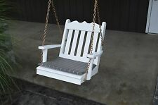2 Foot Western Red Cedar Outdoor Unfinished Royal English Chair Swing Amish Made