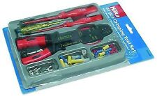 Electrical Repair Tool Kit With Crimping Tools 81pc Wire Cutter Screwdriver Case