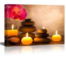 """Spa Still Life with Aromatic Candles and Zen Stones - CVS - 24"""" x 36"""""""