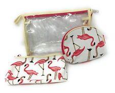 Shagwear Flamingo Makeup Set (3 Bags and Cases)