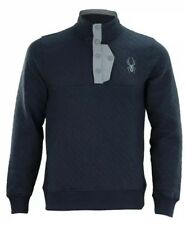 Spyder Mens Quilted Pullover Fleece Sweater Size: M NEW 71D64052-42
