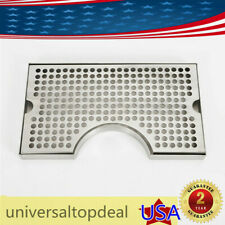 12x7tap Draft Beer Tower Drip Tray Kegerator Stainless Steel Surface No Drain