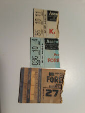 Vintage 1977 Foreigner Concert Ticket Stubs (2) + Kansas Stub (1)