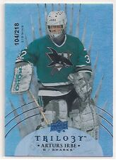 2014-15 UD Trilogy ARTURS IRBE Insert 104/218 - Career Wins San Jose Sharks