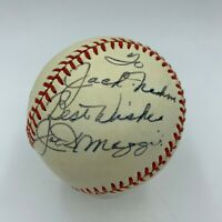 Joe Dimaggio Signed Autographed Official American League Baseball