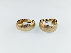 Lovely Vintage Gold-tone Clip Hoop Earrings by Sarah Coventry Jewellery