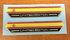 2 x 100mm Spanish Flag Limited Edition Stickers - HIGH GLOSS DOMED GEL - Spain