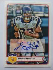 2012 Topps Magic Toby Gerhart Minnesota Vikings Stanford - Auto