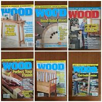 Better Homes & Gardens WOOD Magazine 2015-2020 Issues Lot of 6