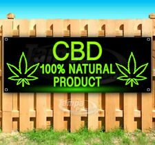 Cbd 100% Natural Product Advertising Vinyl Banner Flag Sign Many Sizes Usa