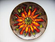 Keramik Fat Lava Wandteller Schale 36cm Ruscha West-Germany pottery WGP vintage
