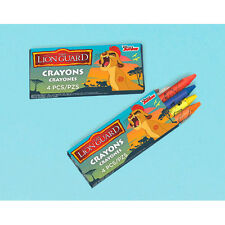 THE LION GUARD 4-PACK CRAYONS (12) ~ Birthday Party Supplies Favors Stationery