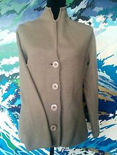 MARCO POLO Cardigan- 100% Wool Beige/Mushroom/Taupe Button Long Sleeve Jacket- S