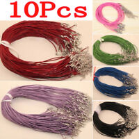 10 Pcs Adjustable Leather Chains Necklace Charms Finding String Cord 1.5mm DIY