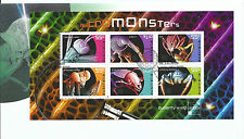 2009 FDC Micro Monsters Mini Sheet set of 6 on FDC  FD1 28 July Sydney NSW