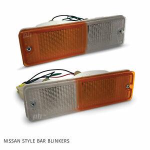 Universal Nissan Style Bull Bar Indicator Blinker / Park Light PAIR LH + RH