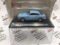 """DIE CAST 1000 MIGLIA """" ALFA ROMEO GIULIETTA SPRINT VELOCE 1955 """" + BOX 2 SCAL..."""