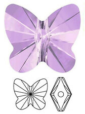 ONE SWAROVSKI CRYSTAL BUTTERFLY BEAD / PENDANT 5754, VIOLET PURPLE, 10 MM