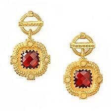 New Rebecca 1.30ctw Hydro Garnet Signature Ring Earrings