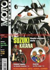 MOTO LEGENDE 123 SUZUKI 1100 KATANA HONDA 250 TLR CB 400 N PEUGEOT NSU YAMAHA XJ