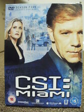 * DVD TV BOXSET * CSI MIAMI SEASON FIVE PART TWO * DVD TELEVISION SET *