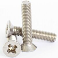 2mm M2 A2 STAINLESS STEEL POZI COUNTERSUNK MACHINE SCREWS POSI CSK SCREW DIN 965