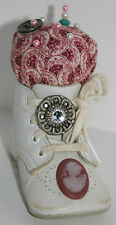 Vintage Baby Shoe with Vintage Buttons - hand crafted into a Pin Cushion