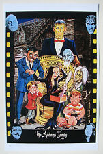ADDAMS FAMILY GROUP CARICATURE PRINT ARGENTINA