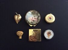Lot of 6 Vintage Compacts - Perfume, Mirror, Pill Case Etc.