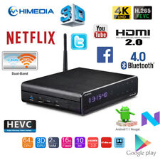 HiMedia Q10 PRO Quad Core 4K H.265 Android Media Player Streamer WiFi BT HDR VP9