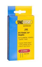 Tacwise agrafeuse agrafes (91) 15mm pour utilisation dans 191EL, ranger 40 duo