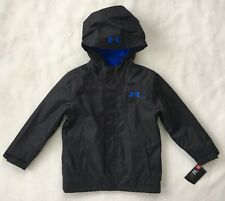 UNDER ARMOUR Boys Winter Coat Wildwood 3 In 1 Storm Jacket Black NEW $120 SIZE 4