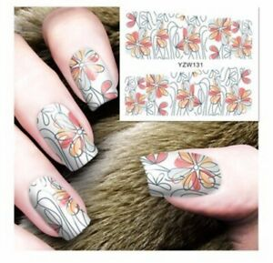 Modern Multi Flower Nail Art Sticker Decal Decoration Manicure Water Transfer