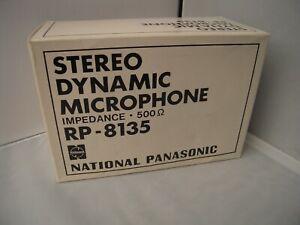 BOXED NATIONAL PANASONIC STEREO DYNAMIC MICROPHONE RP-8135 MATSUSHITA JAPAN