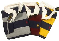 Polo Ralph Lauren Men's Big & Tall Striped Rugby L/S Polo Shirt