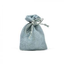 25 sacchetti di Juta, AZZURRO, per bomboniere confetti compleanni matrimonio