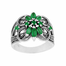 Emerald Cocktail Fine Rings