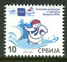 0882 SERBIA 2015 - European Waterpolo Championship - MNH Set