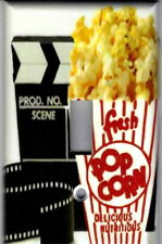 MOVIE FILM AND POPCORN HOME THEATER HOME WALL DECOR LIGHT SWITCH COVER PLATE