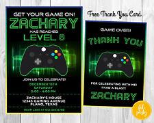 Personalized DIGITAL Video Game Gamer Boy Birthday Party Invitation DIY Print